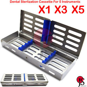 Autoclave Sterilization Cassette Tray Rack For 5 Dental Surgical Instruments Lab