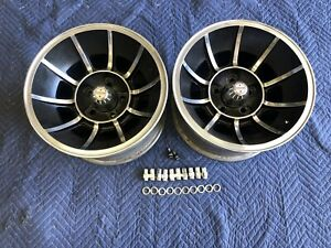Vintage Pair 15x8 1 2 Dukes Of Hazzard Vector Mag Wheels Mopar Ford 5on 4 1 2