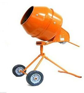5 Cu Ft Tripod 1 2 Hp Electric Cement Mixer Steel Drum