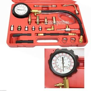 Fuel Pressure Injection Tester Oil Combustion Spraying Meter Gauge Kit Free S H