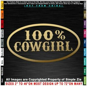 Cowgirls 100 Cowgirl Cowboys Rodeo Country Horses Truck Girl Sticker Decal
