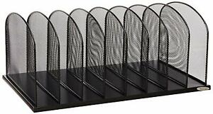 Safco Products Onyx Mesh 8 Sort Vertical Desktop Organizer