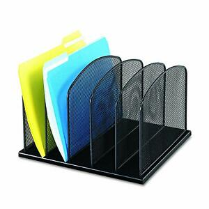 Safco Products Onyx Mesh 5 Sort Vertical Desktop Organizer 3256bl