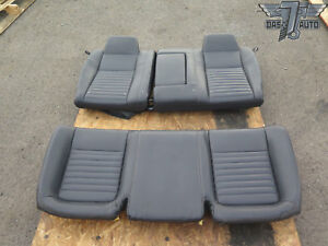 08 10 Dodge Challenger Rear Upper Lower Seat Cushion Leather Black Oem