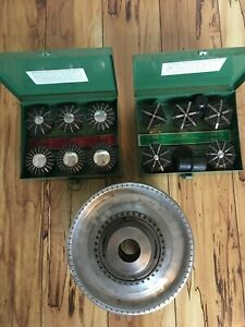 Jacobs Spindle Nose Lathe Chuck Model 91 a6 With 2 Boxes Of Collets