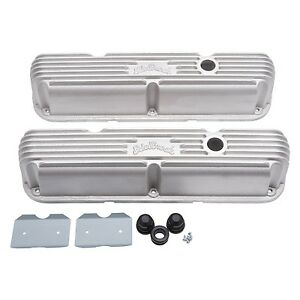 Edelbrock 41769 Classic Series Valve Cover Set Small Block Chrysler 318 340 360