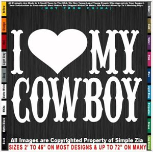 Cowboy I Heart My Cowboy Cowgirl Love Rodeo Country Pickup Sticker Decal