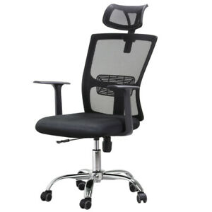 Ergonomic High back Mesh Office Chair Executive Swivel Computer Desk Task Black