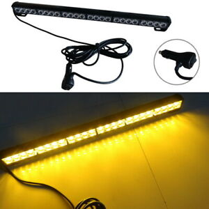 24 Led Amber 27 Emergency Traffic Advisor Flash Strobe Light Bar Warning 12v