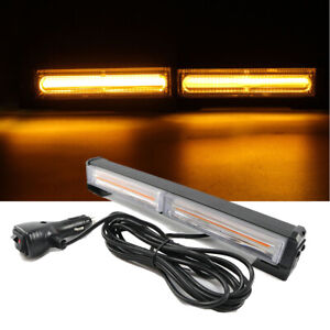 36w Cob Led Emergency Warning Hazard Flash Strobe Light Bar Yellow Amber