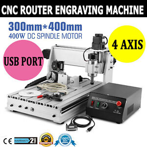 4 Axis 3040t Usb Cnc Router Engraver Engraving Cutter T screw Desktop Cutting