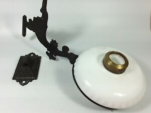 Vintage Victorian Cast Iron Oil Lamp Candle Holder Wall Sconce
