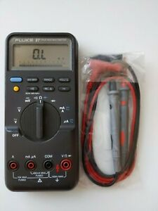 Fluke 87 True Rms Digital Handheld Multimeter New Test Lead Probes Nice