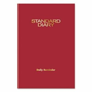 At a glance Standard Diary Daily Reminder Red 5 1 8 X 7 1 2 2019 aagsd38713