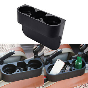 Universal Auto Front Car Seat Organizer Wedge Double Cup Holder For Accessories