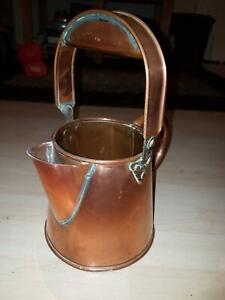 Vintage Antique Copper Jug Coffee Pot Milk Jug Water Kitchen Urn Ewer Flower Pot