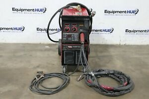 Lincoln Electric Power Mig 350mp Multi process Welder W Python Push Pull Gun