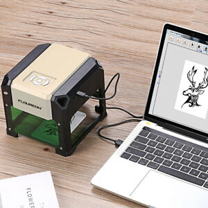 Usa 3000mw Laser Engraver Engraving Machine Stainless Steel Diy Cutting Printer