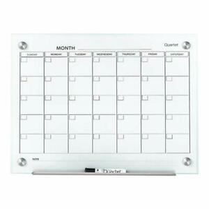 Magnetic Whiteboard Calendar Glass Dry Erase White Board Planner Quartet