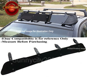 44 Black Roof Rack Wind Faring Deflector For Corss Bar Basket Fit Subaru Mazda