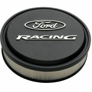 Proform 302 380 Slant Edge Ford Racing 13 Air Cleaner Black Crinkle Raised Logo