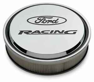 Proform 302 384 Slant Edge Ford Racing Chrome Recessed Logo 14 Air Cleaner