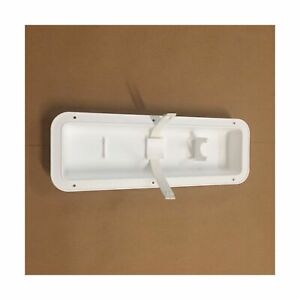 White Fire Extinguisher Wall Mount Pocket Recessed Bracket Holder Hanger Boat