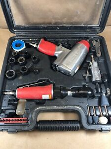 Husky Air Tool Set 12 Impact Wrench 38 Ratchet Wrench Die Grinder with extras