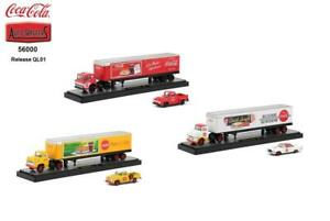 New M2 Machines 1:64 Scale Coca-Cola Auto Haulers Diecast Trucks