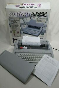 Brother Gx 6750 Daisy Wheel Electronic Typewriter Lightly Used Tested W box