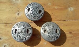 Nash Threaded Screw On Hubcaps Lot Of 3 Dust Axle Grease Caps