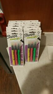 10 Packs Sharpie Clear View Highlighters In Yellow Pink Green Brand New