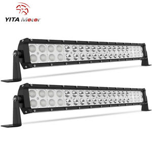 2x 24inch 240w Led Light Bar Spot Flood Offroad For Ford Truck Atv Pickup 22