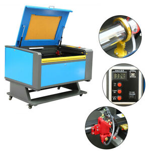 60w Co2 Usb Laser Engraver Engraving Cutter Cutting Printer 700x500mm W 4 Wheels