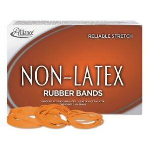 Non Latex Orange Rubber Bands Size 33 3 1 2 X 1 8 850 box Sold As 1 Pound
