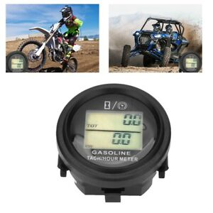 Universal Lcd Digital Tachometer Tach Hour Meter For Motorcycle Atv Marine Boat