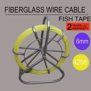 Fiberglass Wire Cable Rod Duct Rodder Fishtape 6mm 130m Stainless Steel