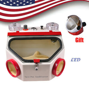 Dental Double Pen Sand Blaster Sandblaster Unit With Led Machine