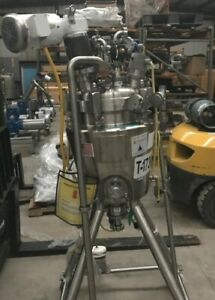 10 Gallon 40 Liter Sanitary 316l Stainless Steel Reactor Jacket And Mixer