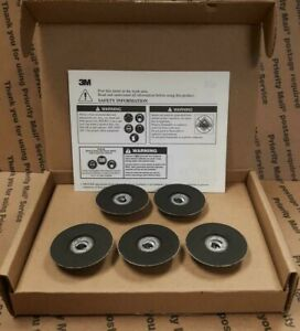 Box Of 5 3m 45096 Roloc Backing Pad 2 Hard Density Rubber Twist Lock