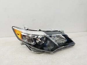 2012 2013 2014 Toyota Camry Se Right Pass Black Bezel Oem Halogen Oem Headlight