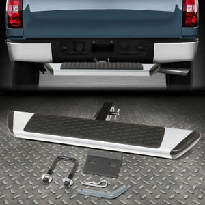 For 2 Receiver Trailer Towing Hitch Step Bar Guard 36 Wide X 5 5 Long Silver