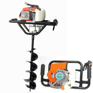 63cc One Man Gas 2 5hp Post Fence Hole Earth Auger Machine W 6 X 33 Drill Bit