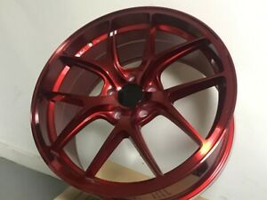 19x8 5 Red F Style Concave Wheels Rims Fits Ford Mustang 5x114 3