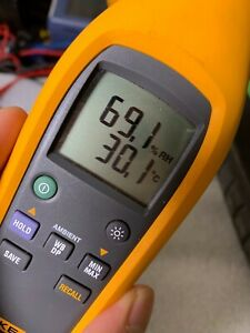 Fluke 971 Havc Dew Point Wet Bulb Test 60 c Portable Temperature Humidity Meter