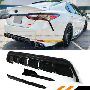 For 2018 19 Toyota Camry Se Xse Shark Fin Rear Bumper Diffuser Side Apron Spat