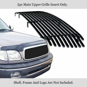 Fits 1999 2002 Toyota Tundra Main Upper Stainless Steel Black Billet Grille