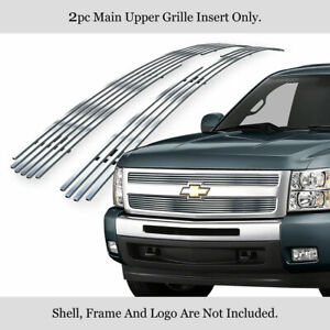 Fits 2007 2013 Chevy Silverado 1500 Upper Stainless Chrome Billet Grille Insert