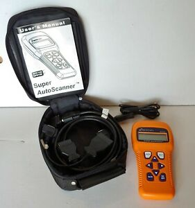 Actron Super Auto Scanner Cp9145 With Case Cords User Manual Like New