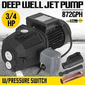 3 4 Hp Shallow Or Deep Well Jet Pump W pressure Switch Homes 110v Irrigate